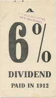 A 6% Dividend Paid in 1912