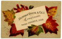 Dundas Dick & Co.'s Compliments of the Season, 1875