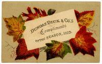 Dundas Dick & Co.'s Compliments of the Season, 1875