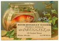 Rich Holiday Goods: Frank C. Goodale, Druggist