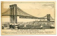Lydia E. Pinkham's Vegetable Compound: the Great East River Suspension Bridge